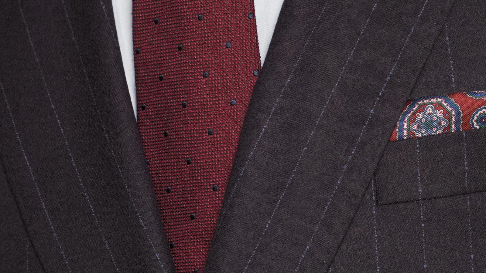 Blue Stripe Brown Suit - slider image 1