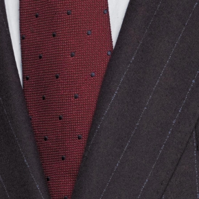Blue Stripe Brown Suit - thumbnail image 1