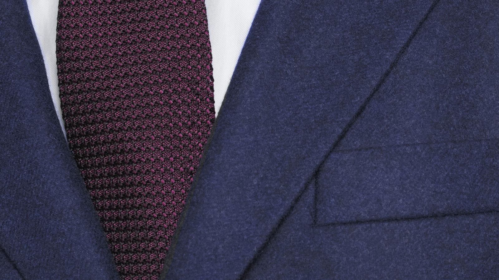 Coat in Solid Navy Wool - slider image 1