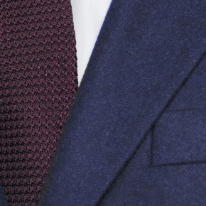 Coat in Solid Navy Wool - thumbnail image 1