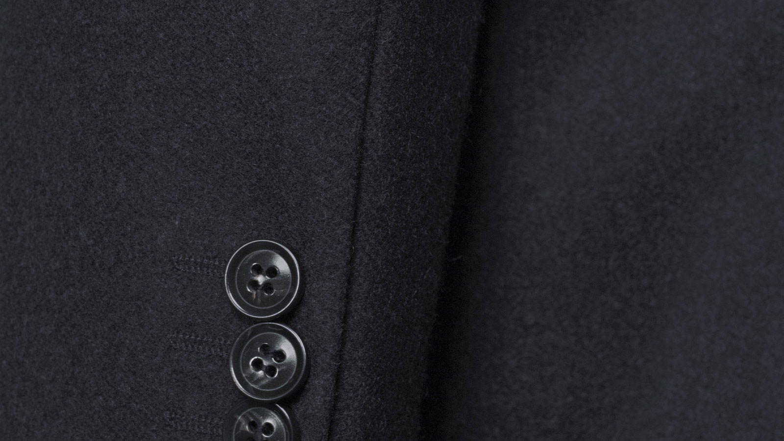 Coat in Solid Charcoal Wool - slider image 1