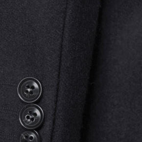 Coat in Solid Charcoal Wool - thumbnail image 1
