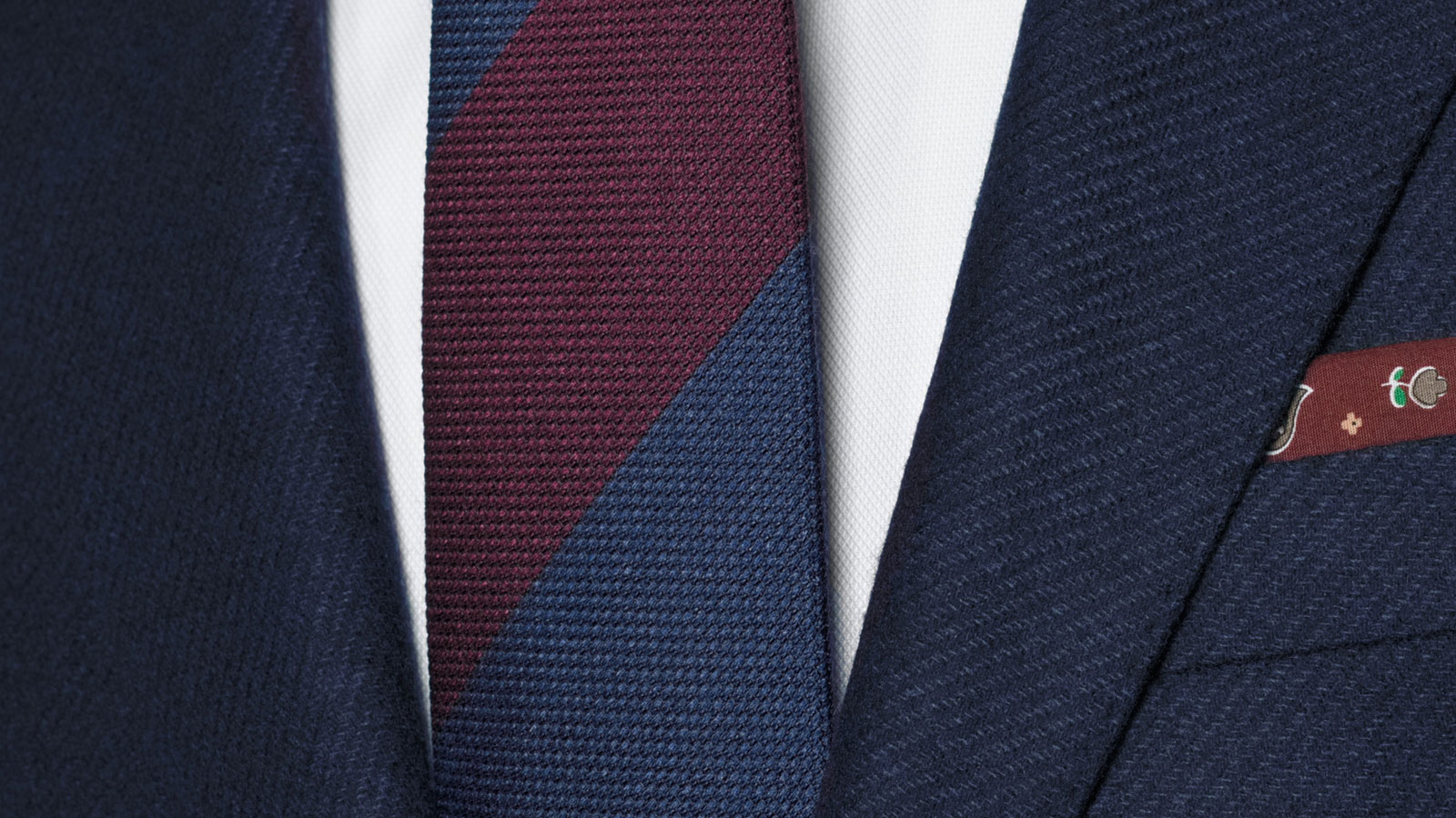 Navy Twill Wool & Cashmere suit - slider image 1