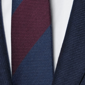 Navy Twill Wool & Cashmere suit - thumbnail image 1