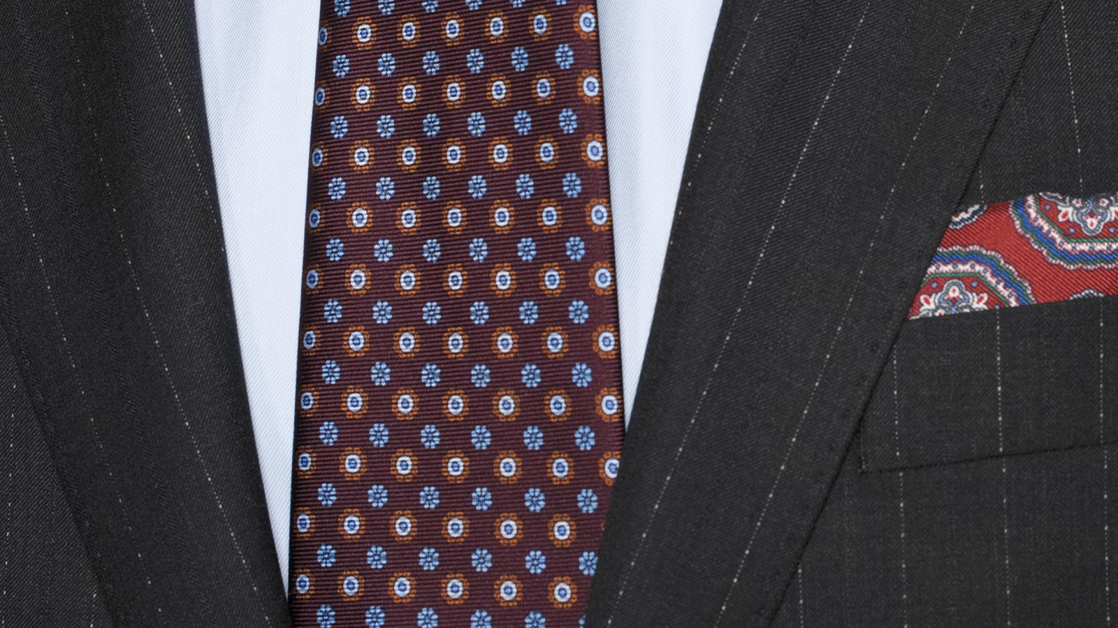 Sartoria Charcoal Pinstripe 160s Suit - slider image 1