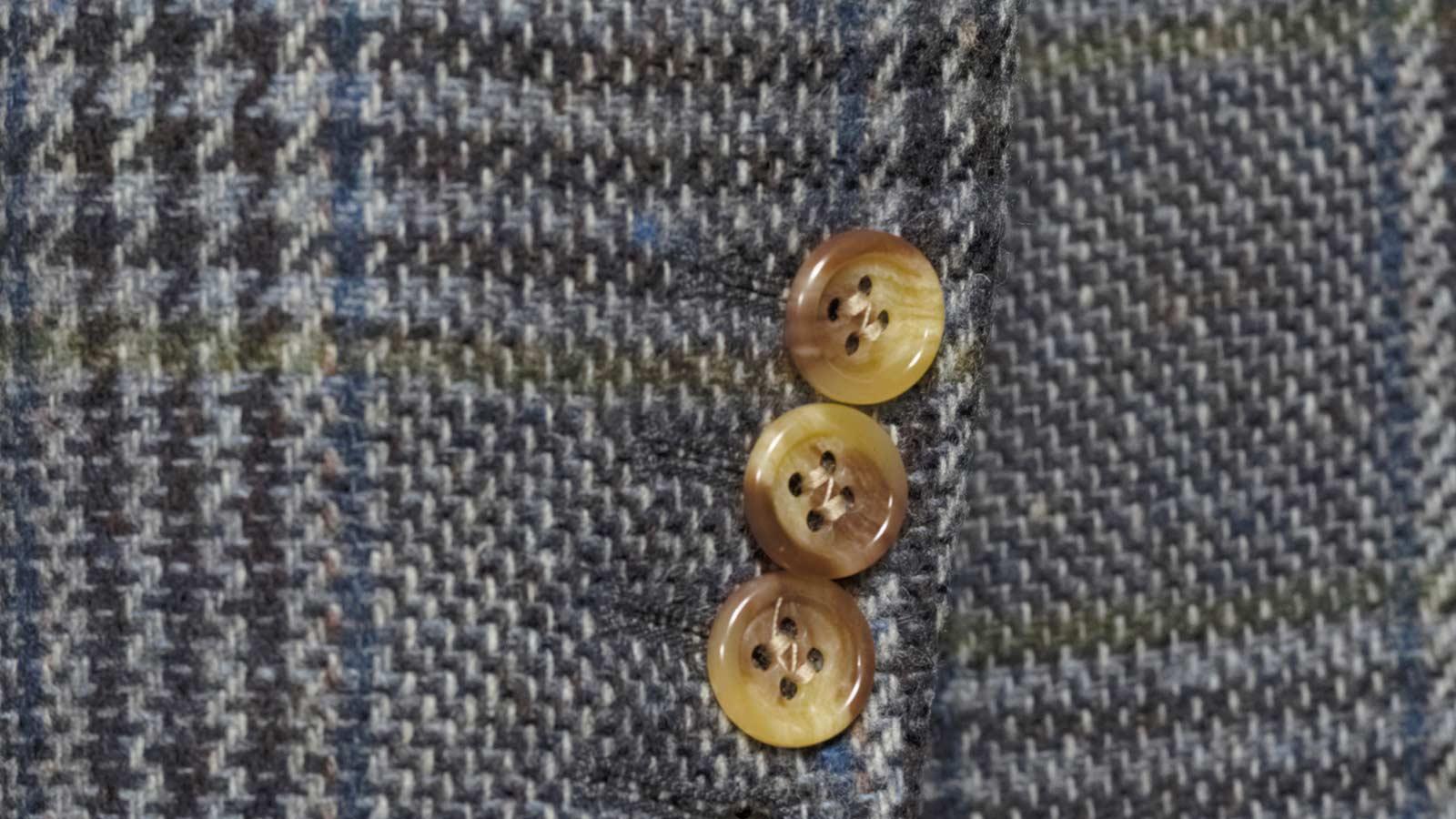 Grey Plaid Shetland Tweed Blazer - slider image 1