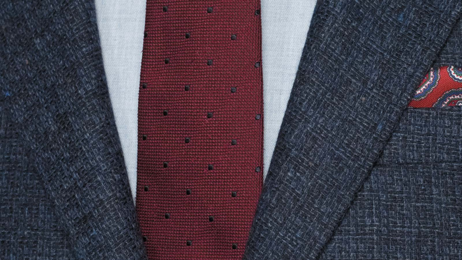 Navy Fine Check Tweed Blazer - slider image 1