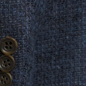 Navy Fine Check Tweed Blazer - thumbnail image 2