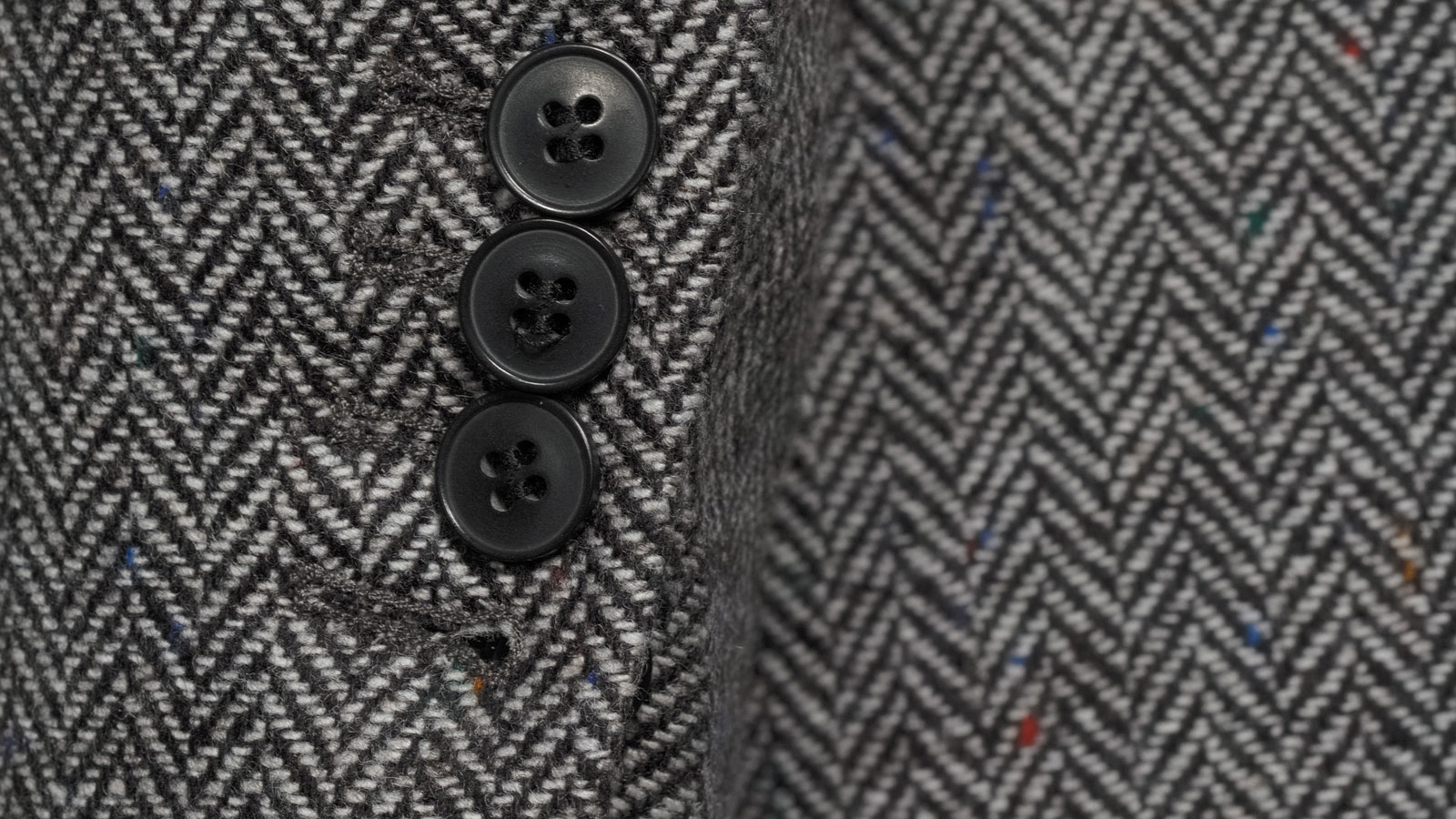 Grey Donegal Herringbone Tweed Blazer - slider image 1