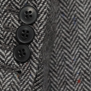 Grey Donegal Herringbone Tweed Blazer - thumbnail image 1