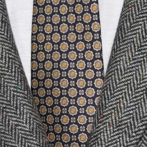 Grey Donegal Herringbone Tweed Blazer - thumbnail image 2