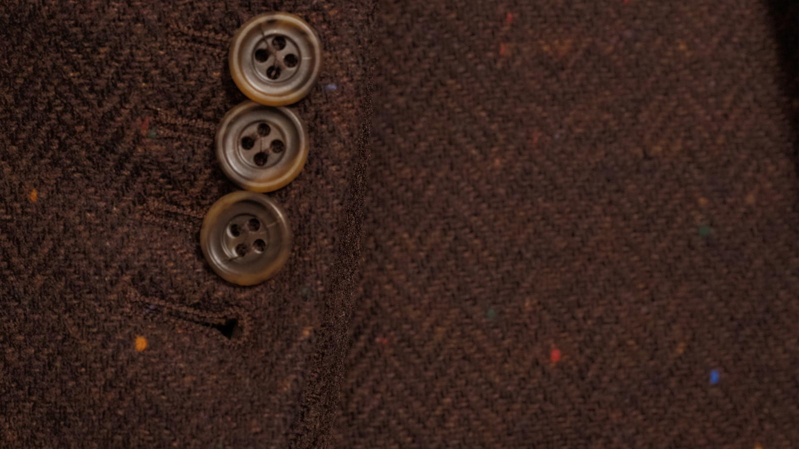 Rich Tobacco Donegal Herringbone Tweed Blazer - slider image 1