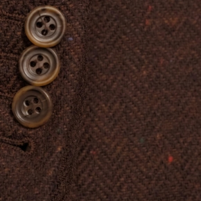 Rich Tobacco Donegal Herringbone Tweed Blazer - thumbnail image 1