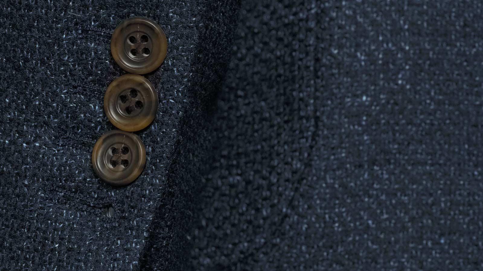 Navy Vintage Hopsack Tweed Blazer - slider image 1