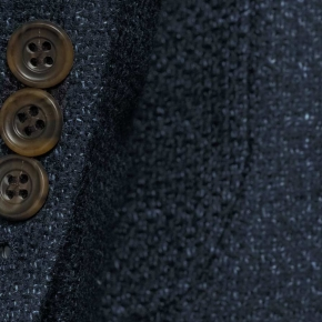 Navy Vintage Hopsack Tweed Blazer - thumbnail image 1