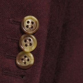Burgundy Wool Flannel Blazer - thumbnail image 2
