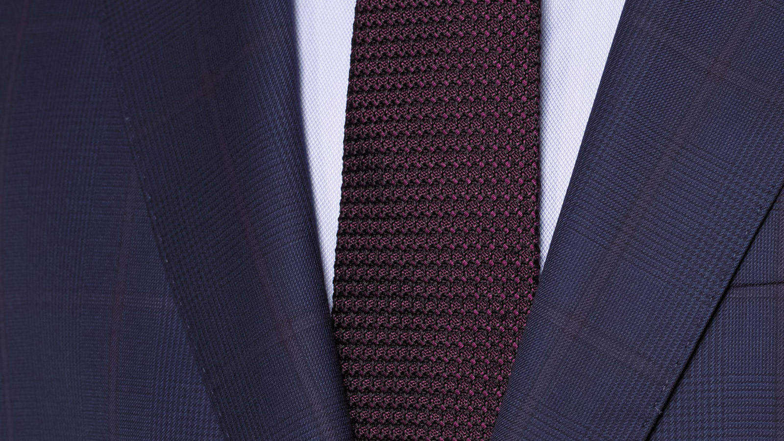 Vendetta Premium Lavender Check Navy Plaid Suit - slider image 1