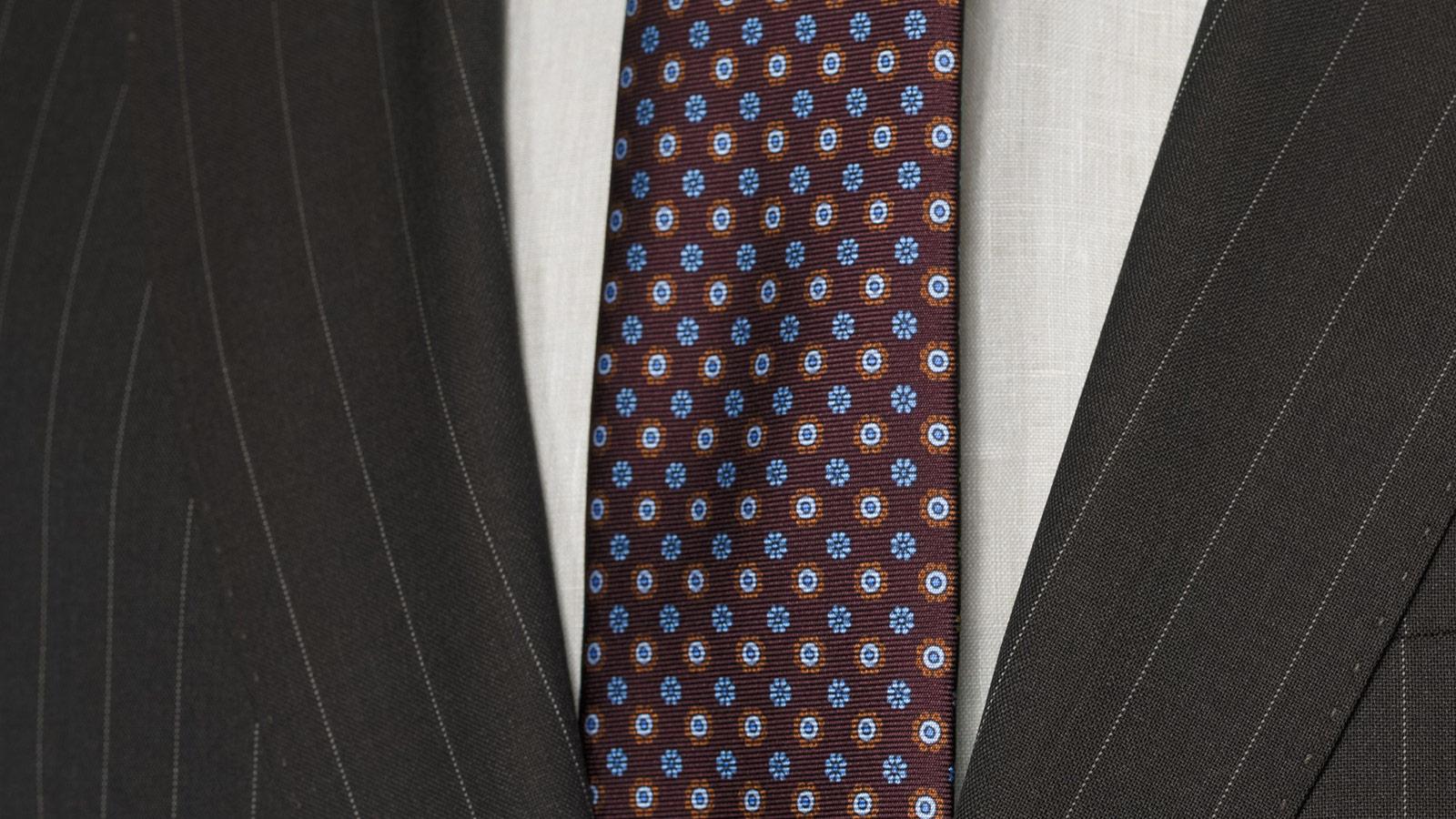 Vendetta Premium Brown Pinstripe Suit - slider image 1