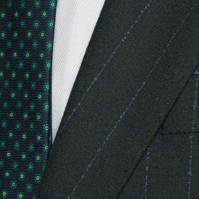 Blue Stripe Green Blazer - thumbnail image 1