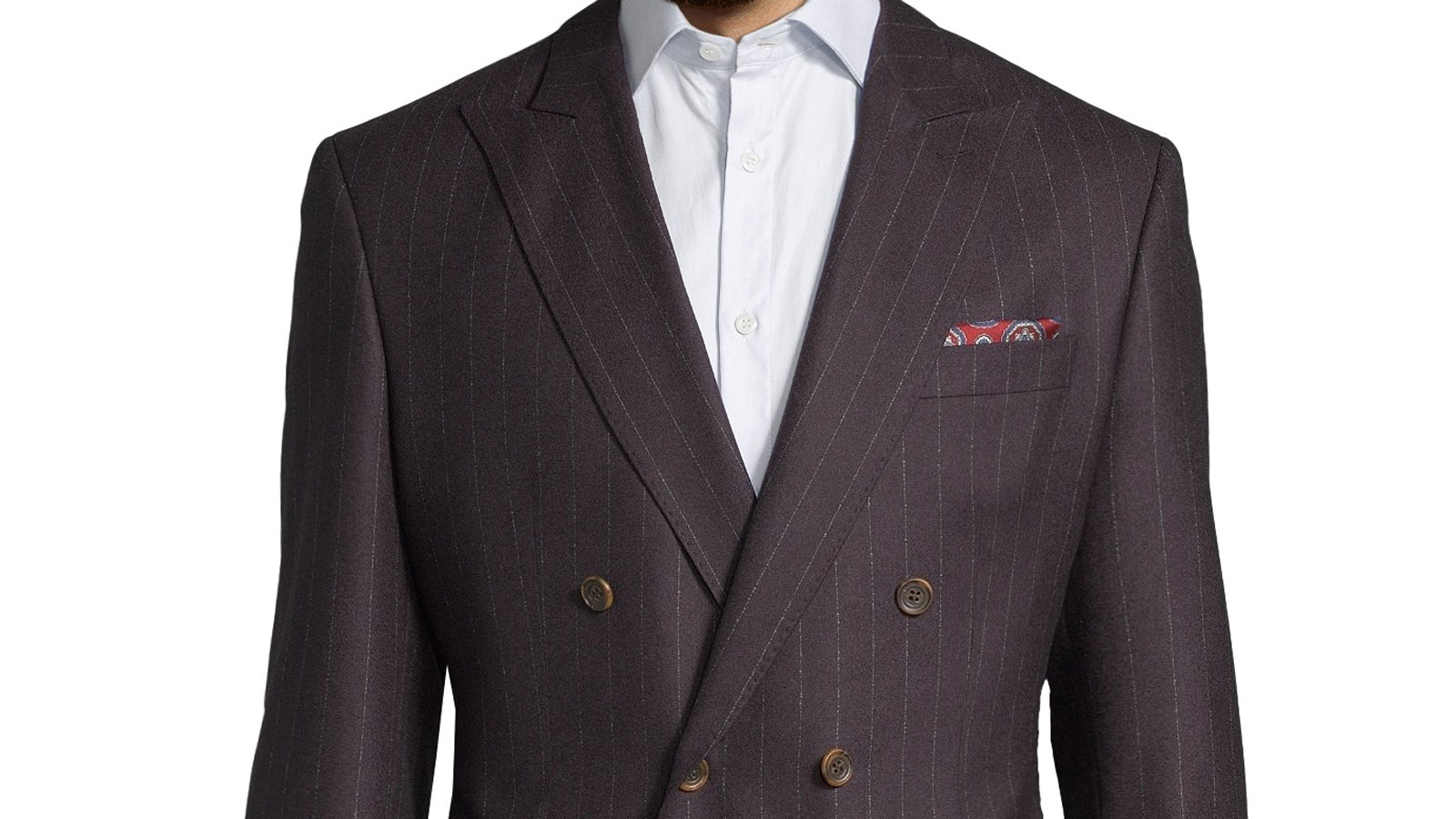 Blue Stripe Brown Blazer - slider image 1