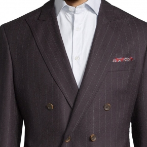 Blue Stripe Brown Blazer - thumbnail image 1
