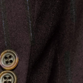 Blue Stripe Brown Blazer - thumbnail image 2