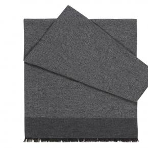 Grey Melange Wool & Silk Scarf - thumbnail image 1