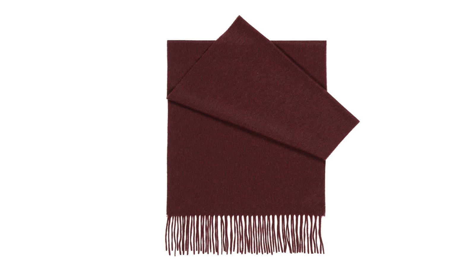 Solid Burgundy Cashmere Scarf  - slider image