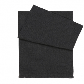 Solid Charcoal Wool Scarf - thumbnail image 1