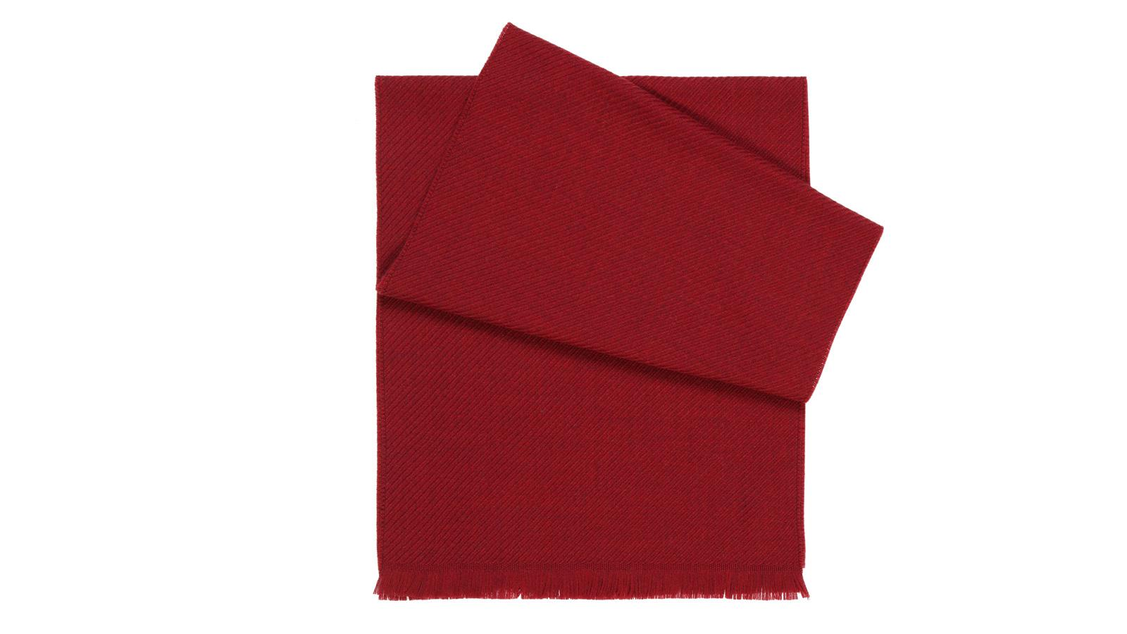 Solid Red Wool Scarf  - slider image