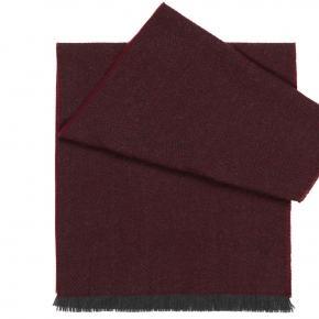 Burgundy Herringbone Wool Scarf - thumbnail image 1