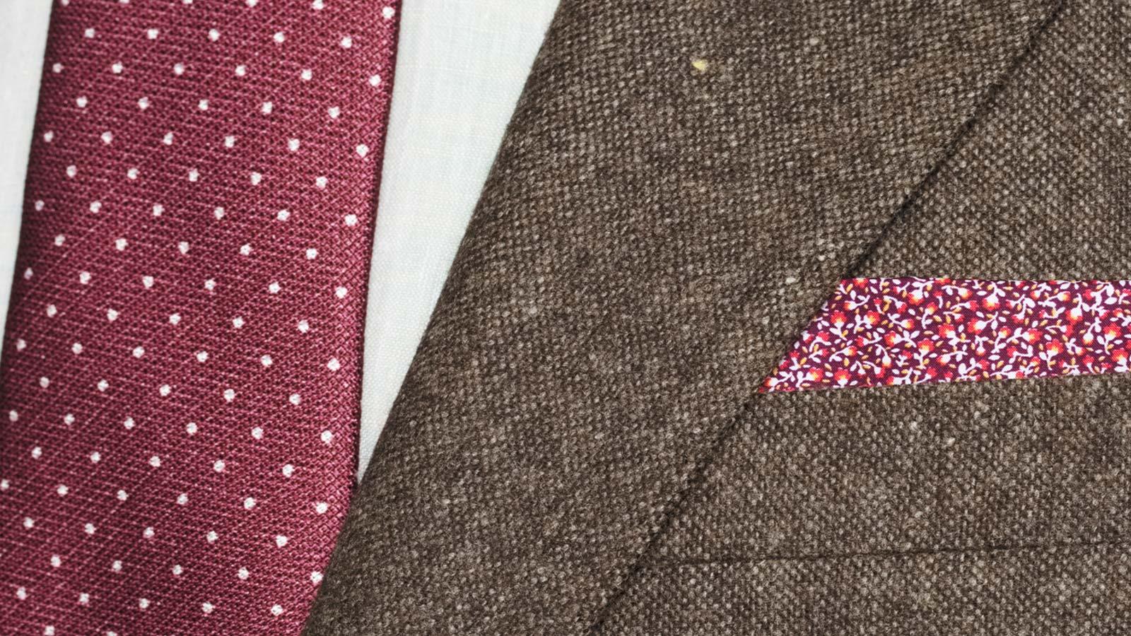 Suit in Natural Brown Tweed - slider image 1