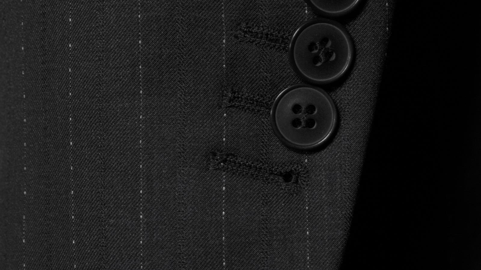 Sartorial Charcoal Pinstripe 160s Suit - slider image 1