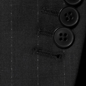 Sartorial Charcoal Pinstripe 160s Suit - thumbnail image 1