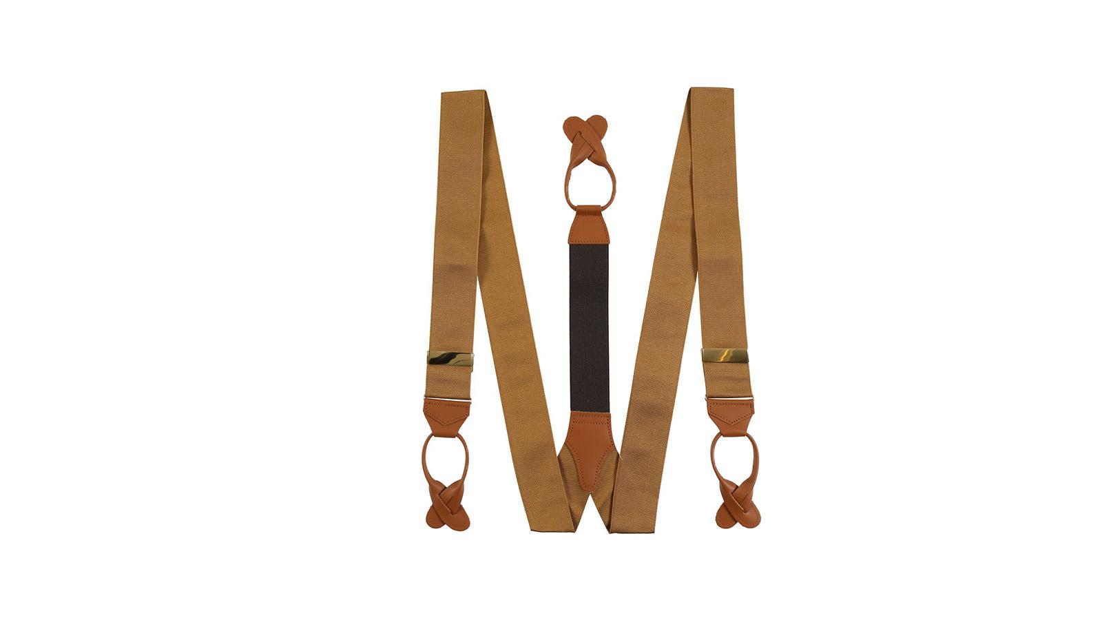 Almond Beige Suspenders - slider image