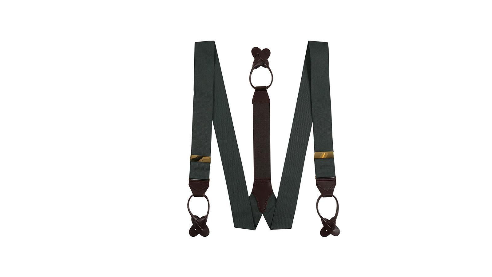 Dark Green Suspenders - slider image