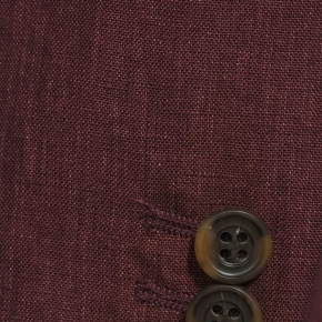 Intense Ruby Red Linen Suit - thumbnail image 1