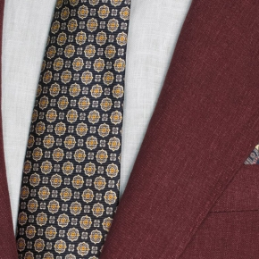 Intense Ruby Red Linen Suit - thumbnail image 2
