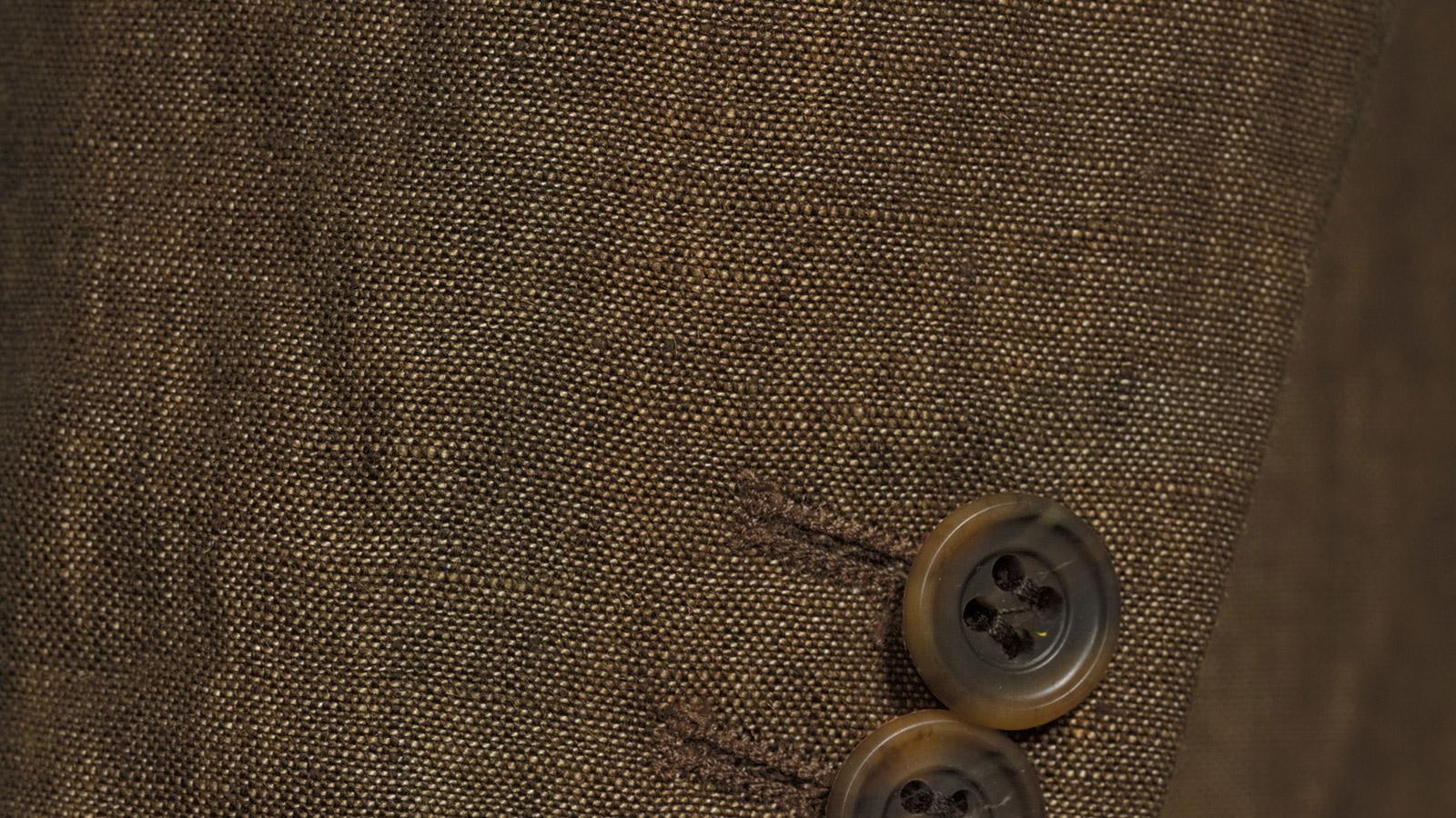 Natural Brown Linen Suit - slider image 1