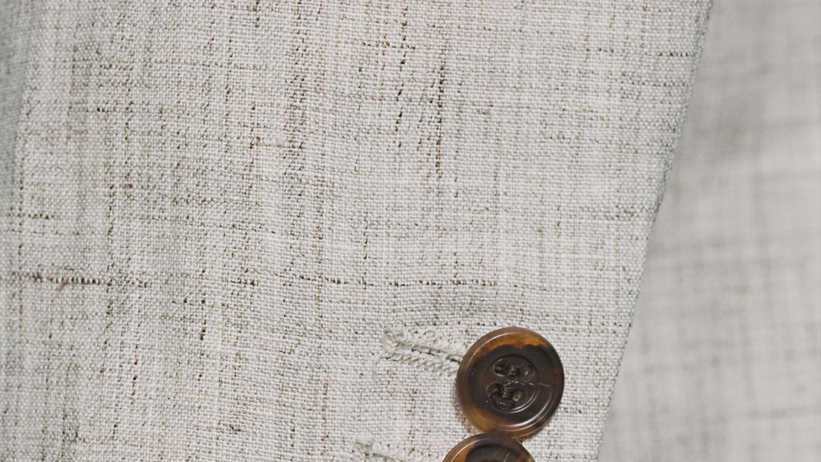 Antique White Linen Suit - slider image 1