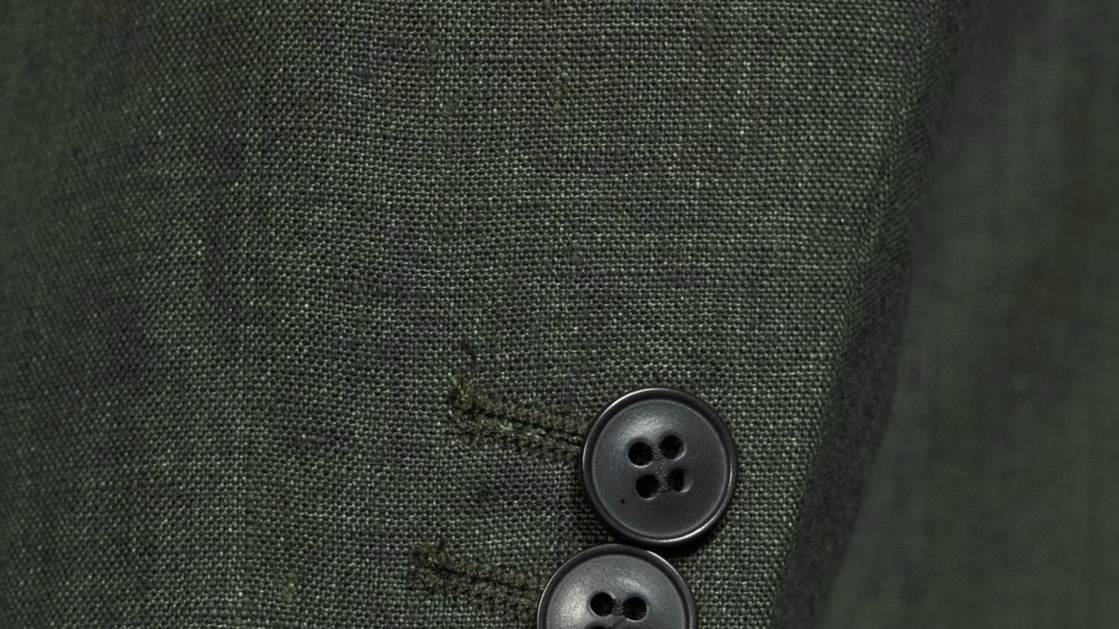 Forest Green Linen Suit - slider image 1
