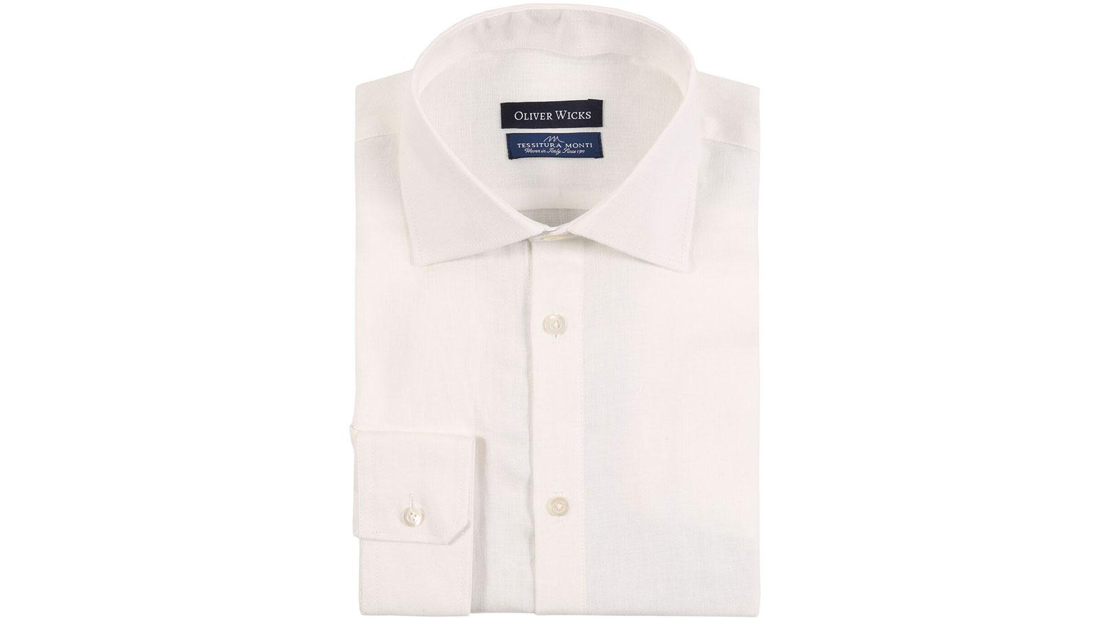 White Linen Shirt - slider image