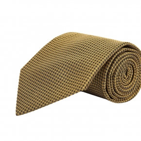 Gold Hopsack Silk Tie - thumbnail image 1