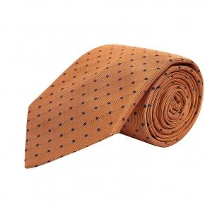 Copper Dotted Silk Tie - thumbnail image 1