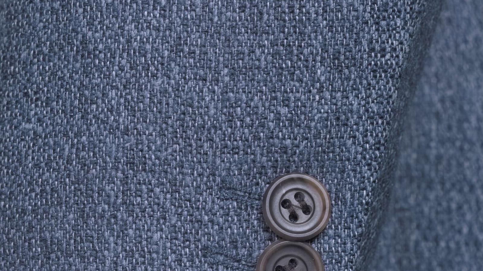 Navy Blue Melange Wool Silk & Linen Blazer - slider image 1