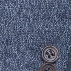 Navy Blue Melange Wool Silk & Linen Blazer - thumbnail image 1