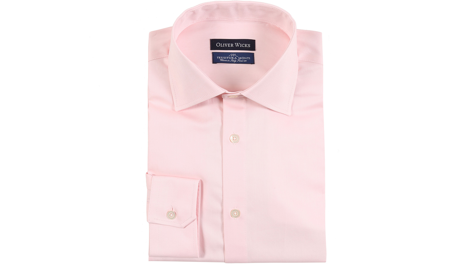 Melon Pink Two-Ply Cotton Twill Shirt - slider image