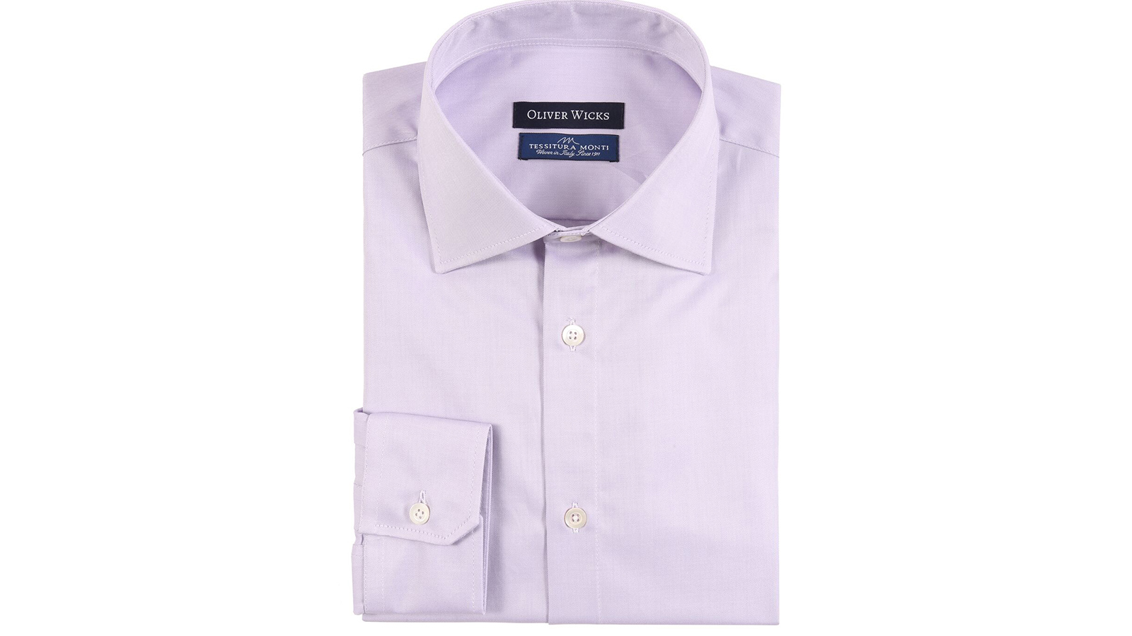 Lavender Two-Ply Cotton Twill Shirt - slider image