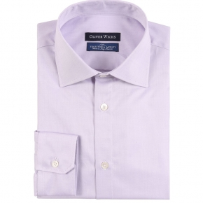 Lavender Two-Ply Cotton Twill Shirt - thumbnail image 1