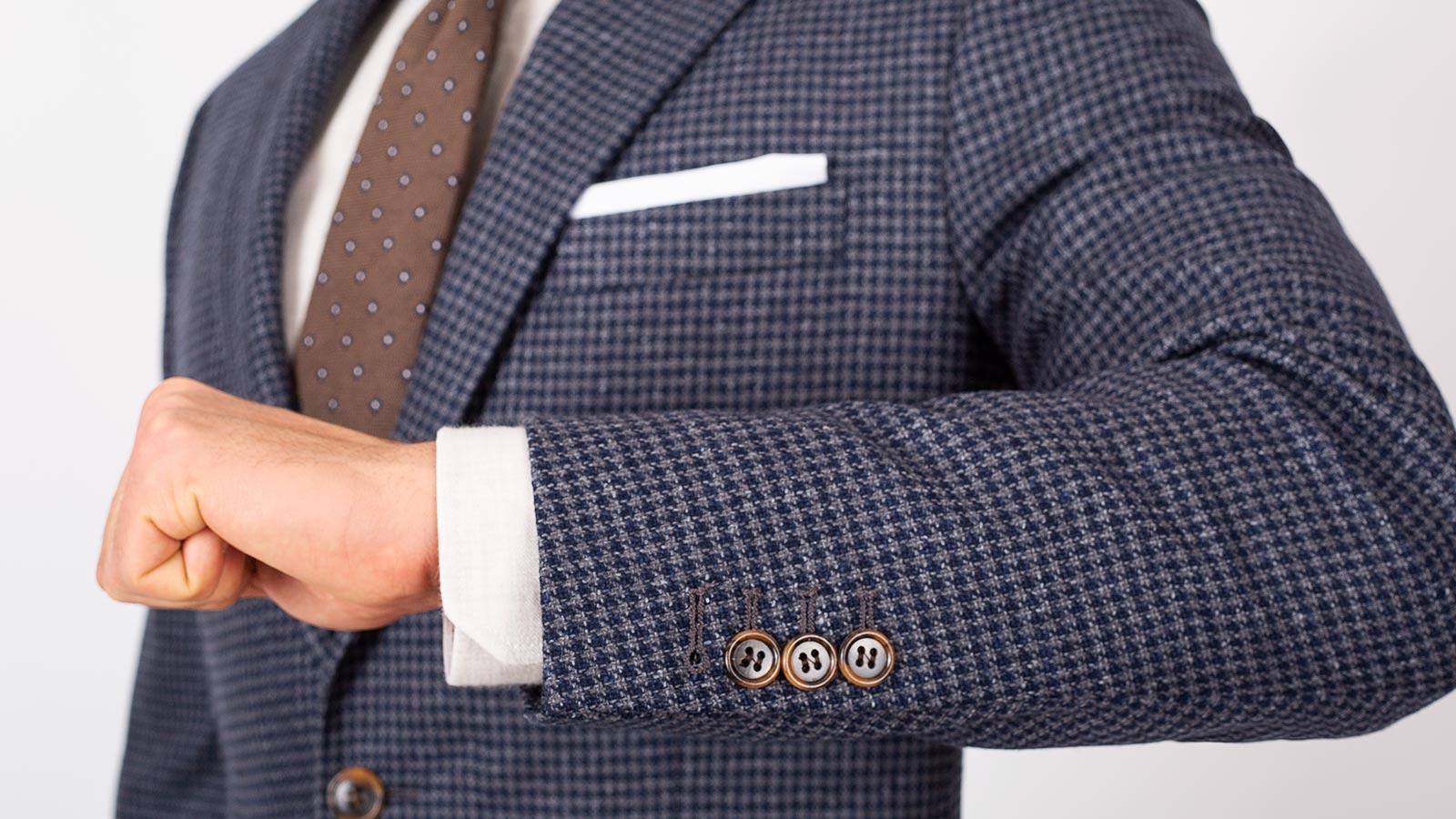 Navy & Grey Wool-Silk Sport Coat - slider image 1